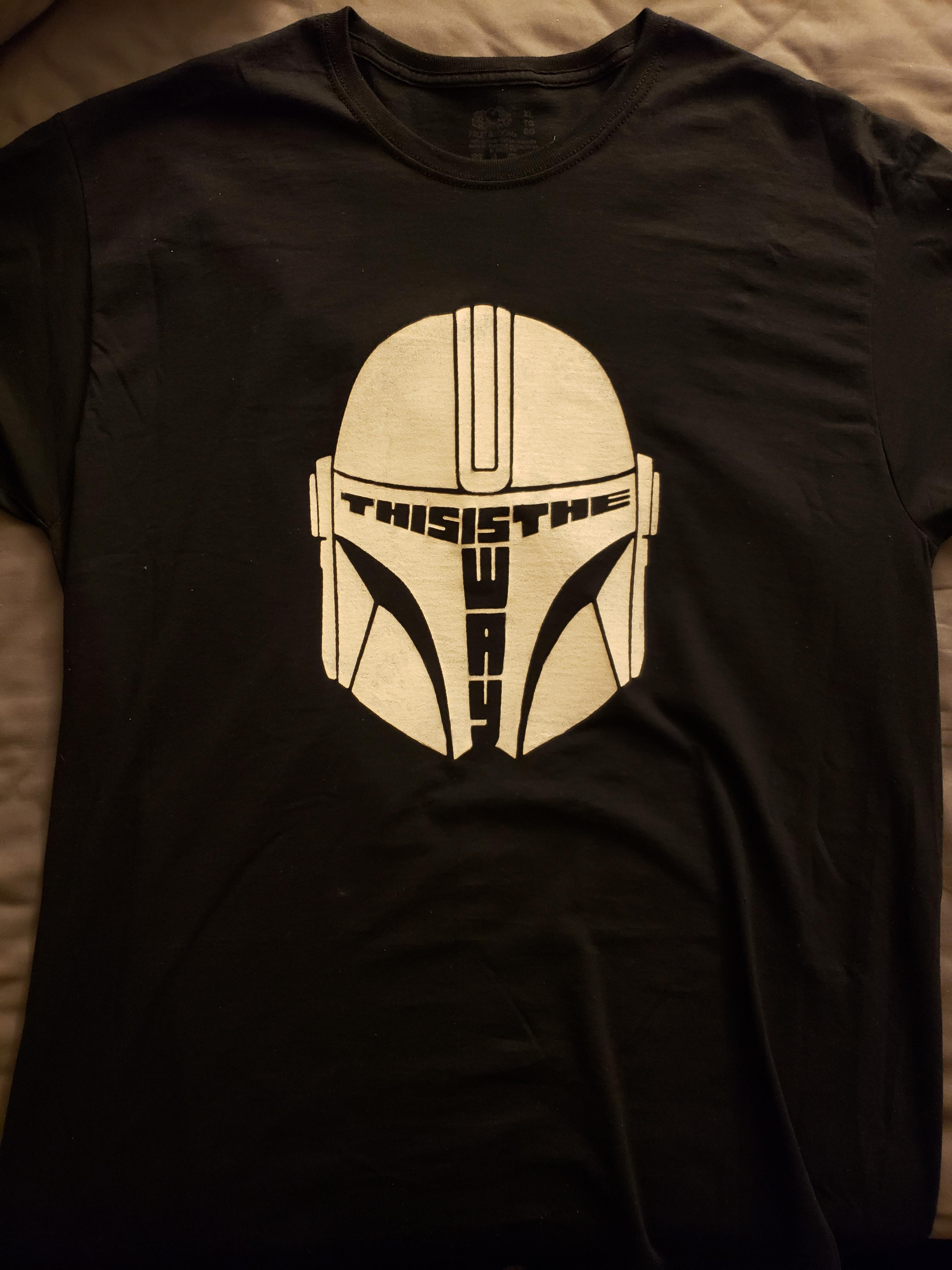I decided to make my own Mando shirt, and I\'m really happy with how it came out.