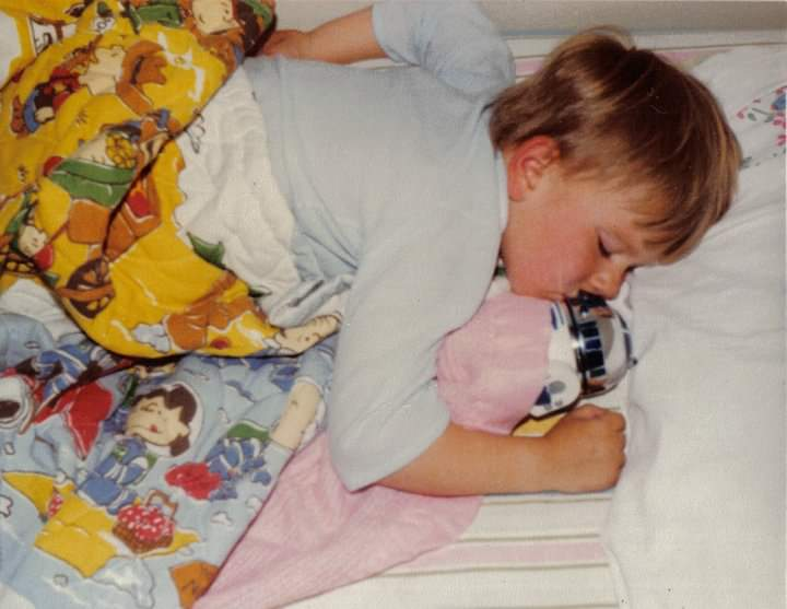 Me with my R2-D2, circa 1980.