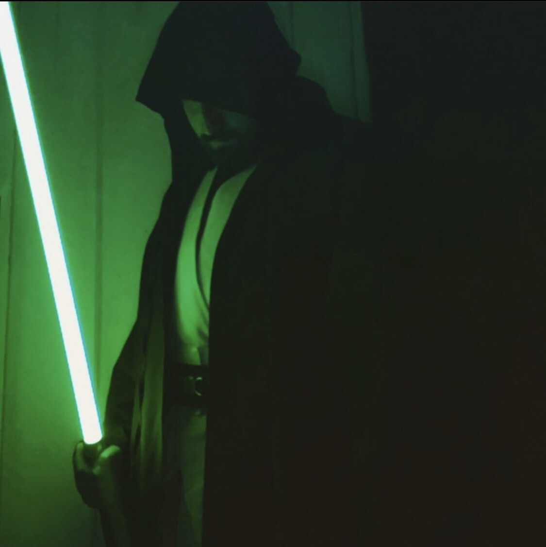 Finally got my Jedi robes and saber! I feel just as awesome as I did dressing up as a kid!