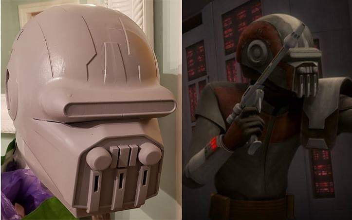 Boba\'s Interim helmet from The Clone Wars doesn\'t get enough love. Awesome design that falls by the wayside. So i decide...