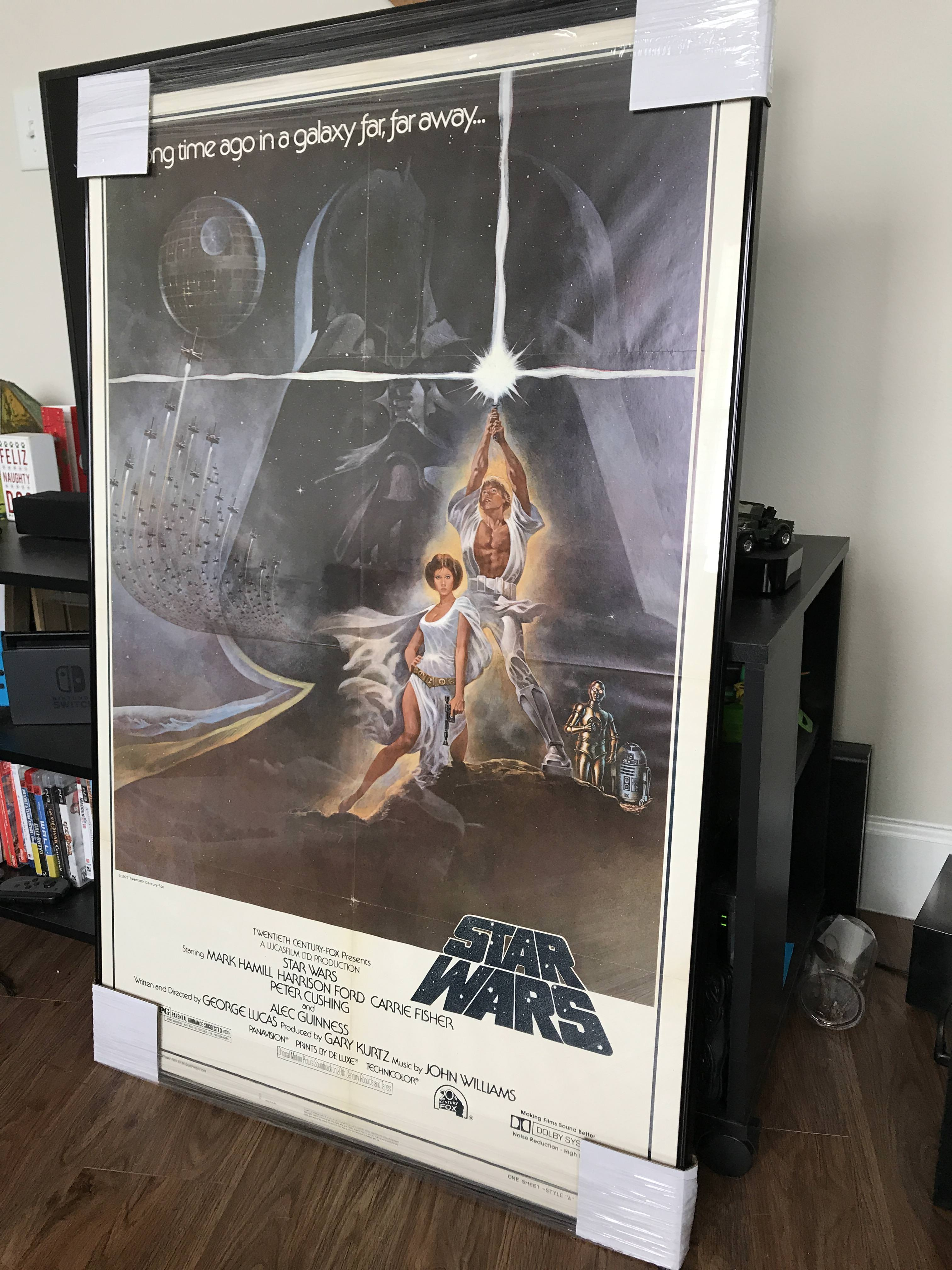 I had my Star Wars posters I found at an estate sale framed.