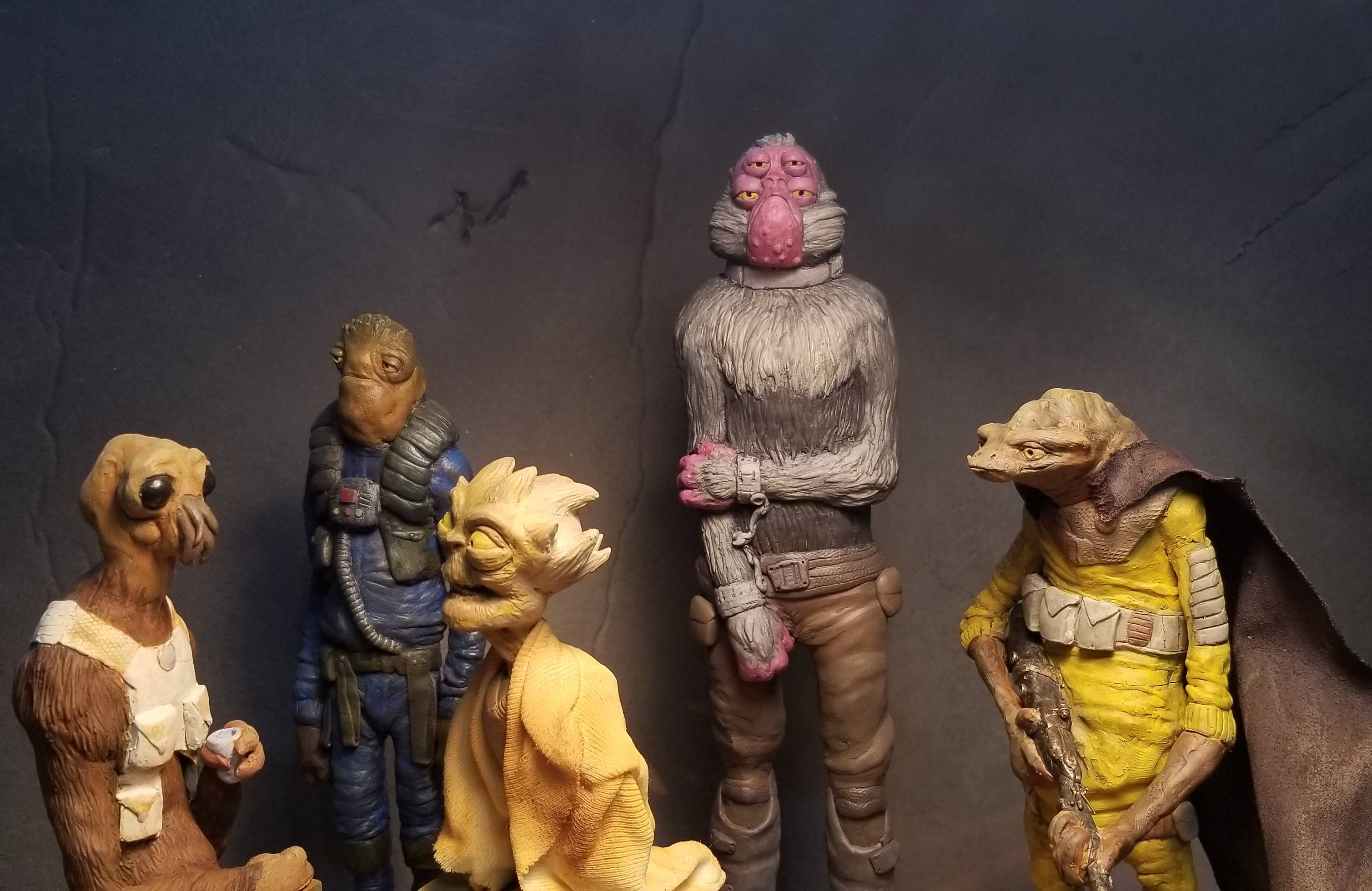 Slowly putting together my own little Cantina of sculptures I\'ve made