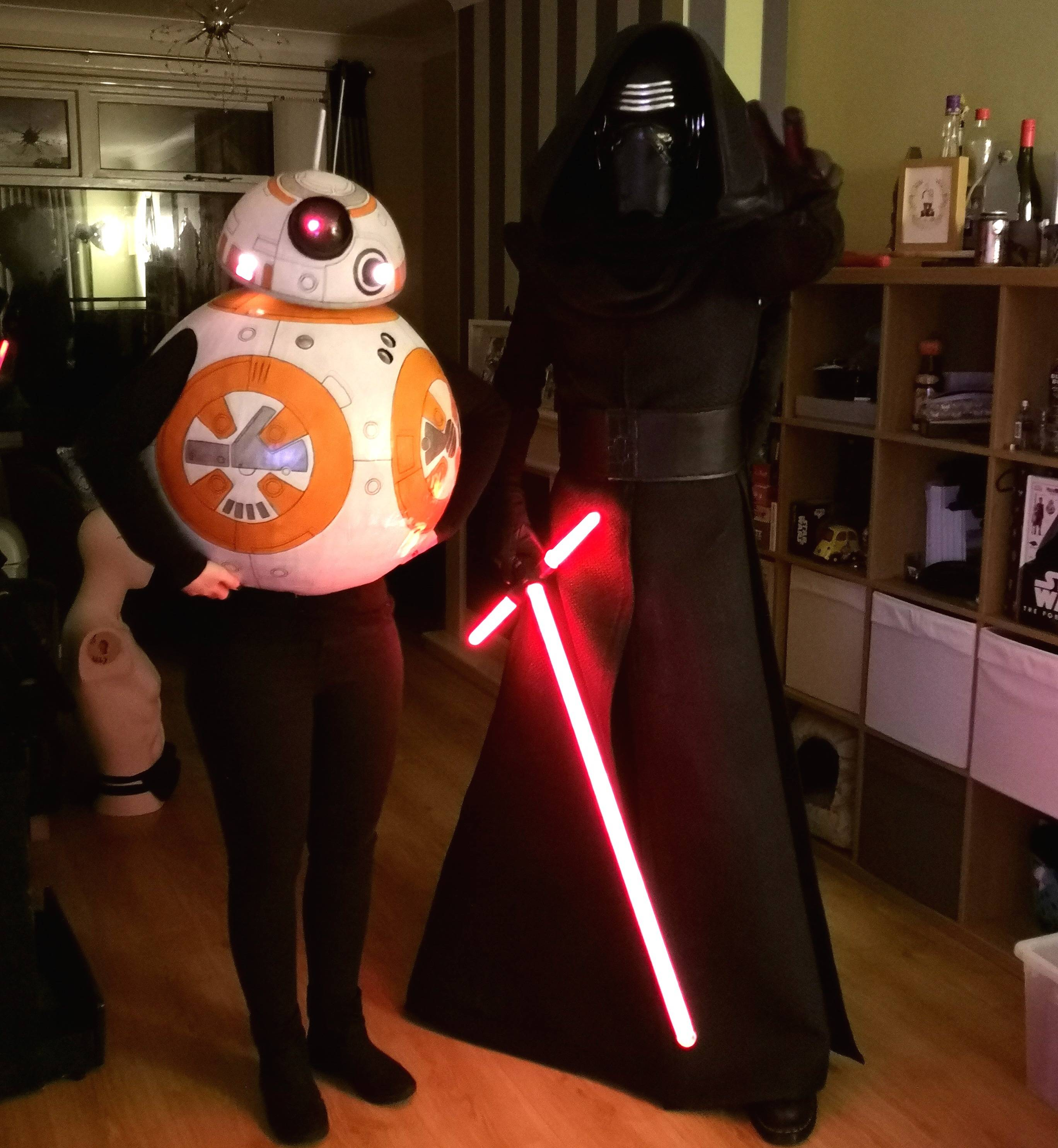 My wife and I dressed as BB8 & Kylo Ren for a Halloween party on Saturday night [Costumes]