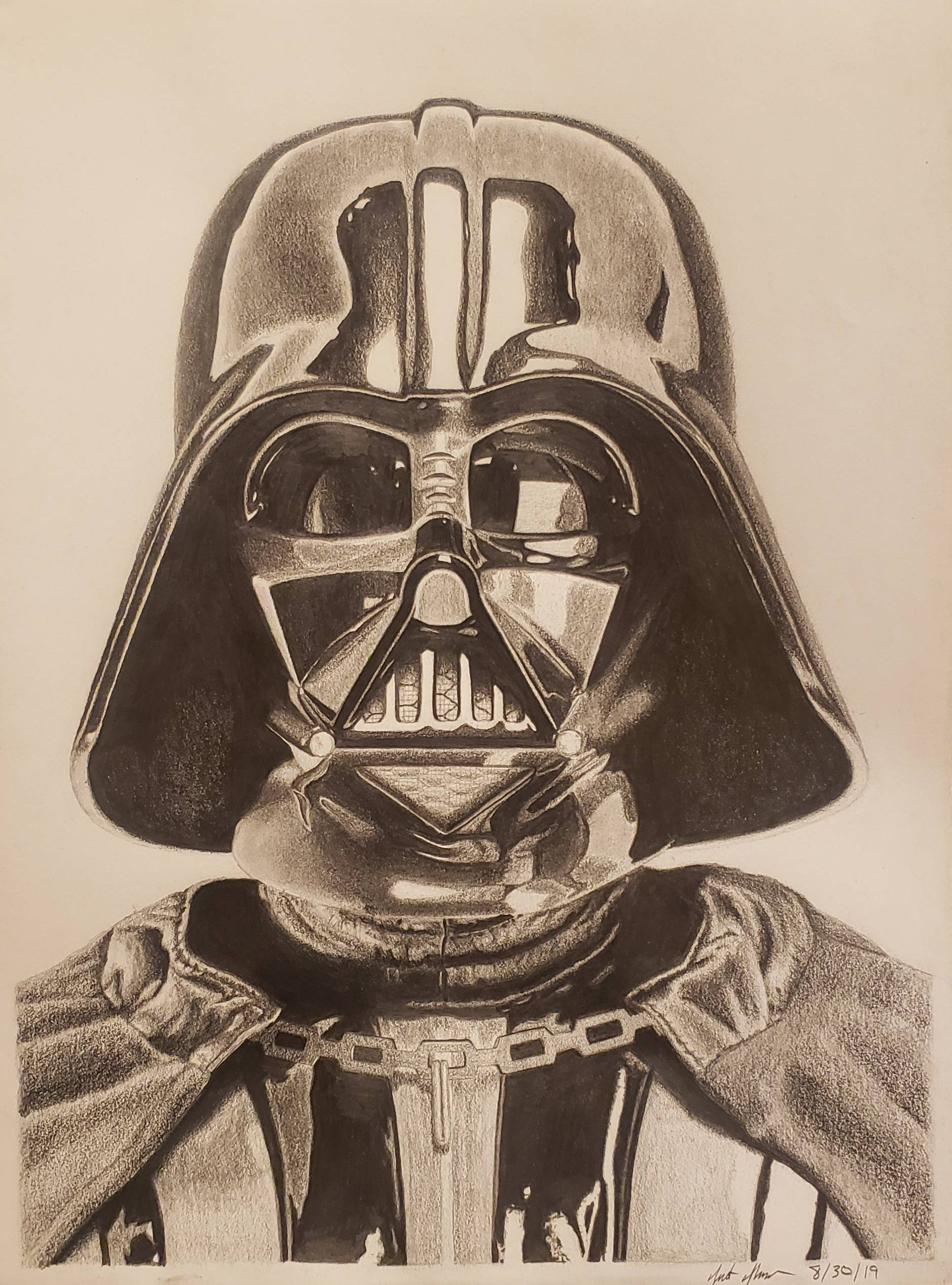 Took a stab at drawing one of my favorite characters, Darth Vader