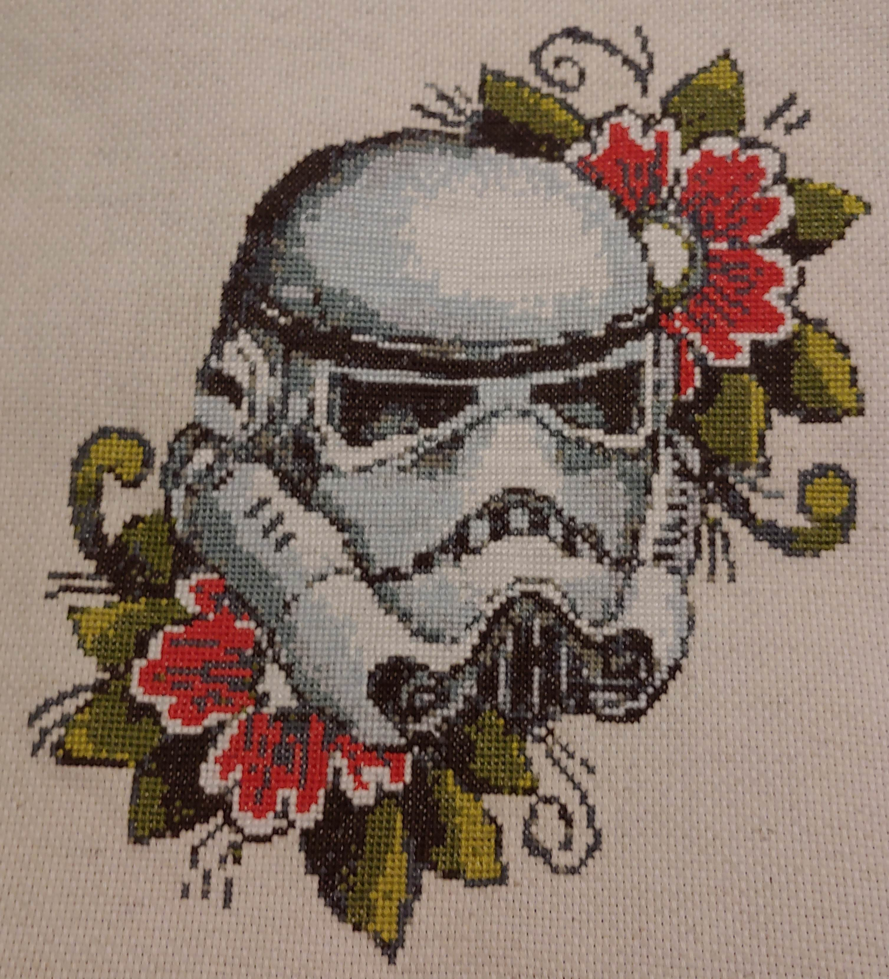 I think y\'all might appreciate my latest cross stitch!