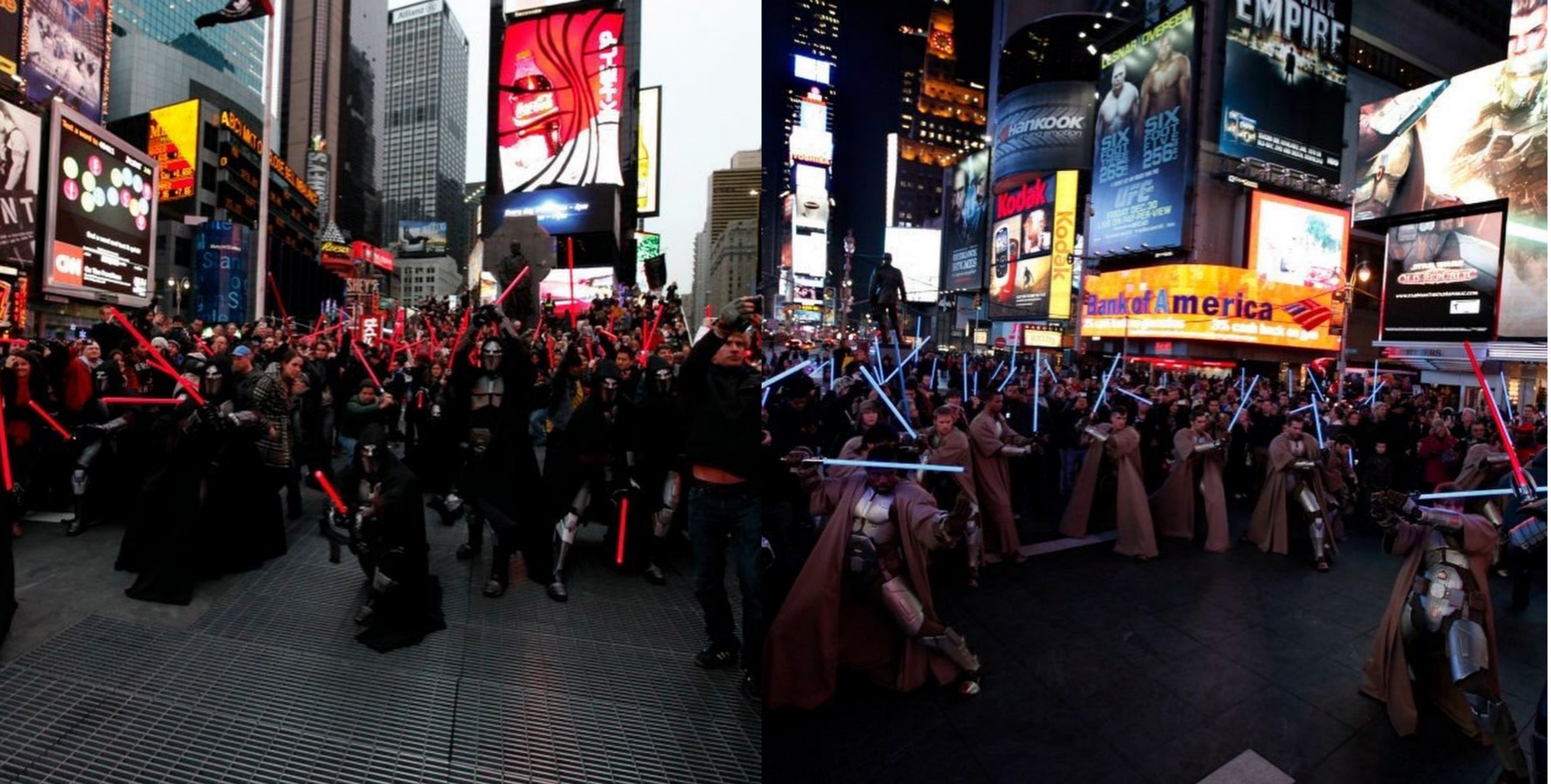 Back when OR sith and Jedi took over times square