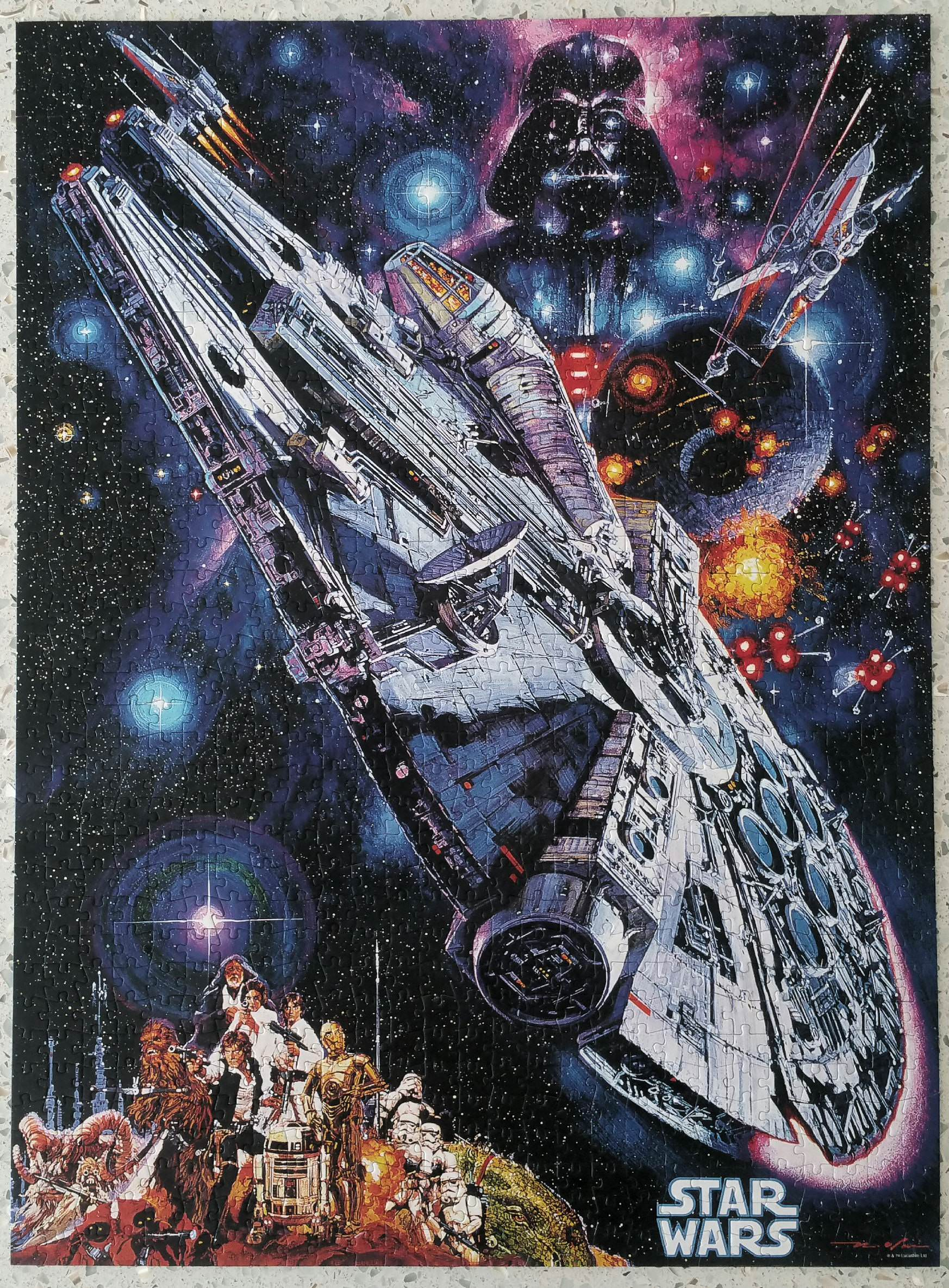 I\'ll never be too old to play with my Star Wars toys (puzzles are good for the soul).