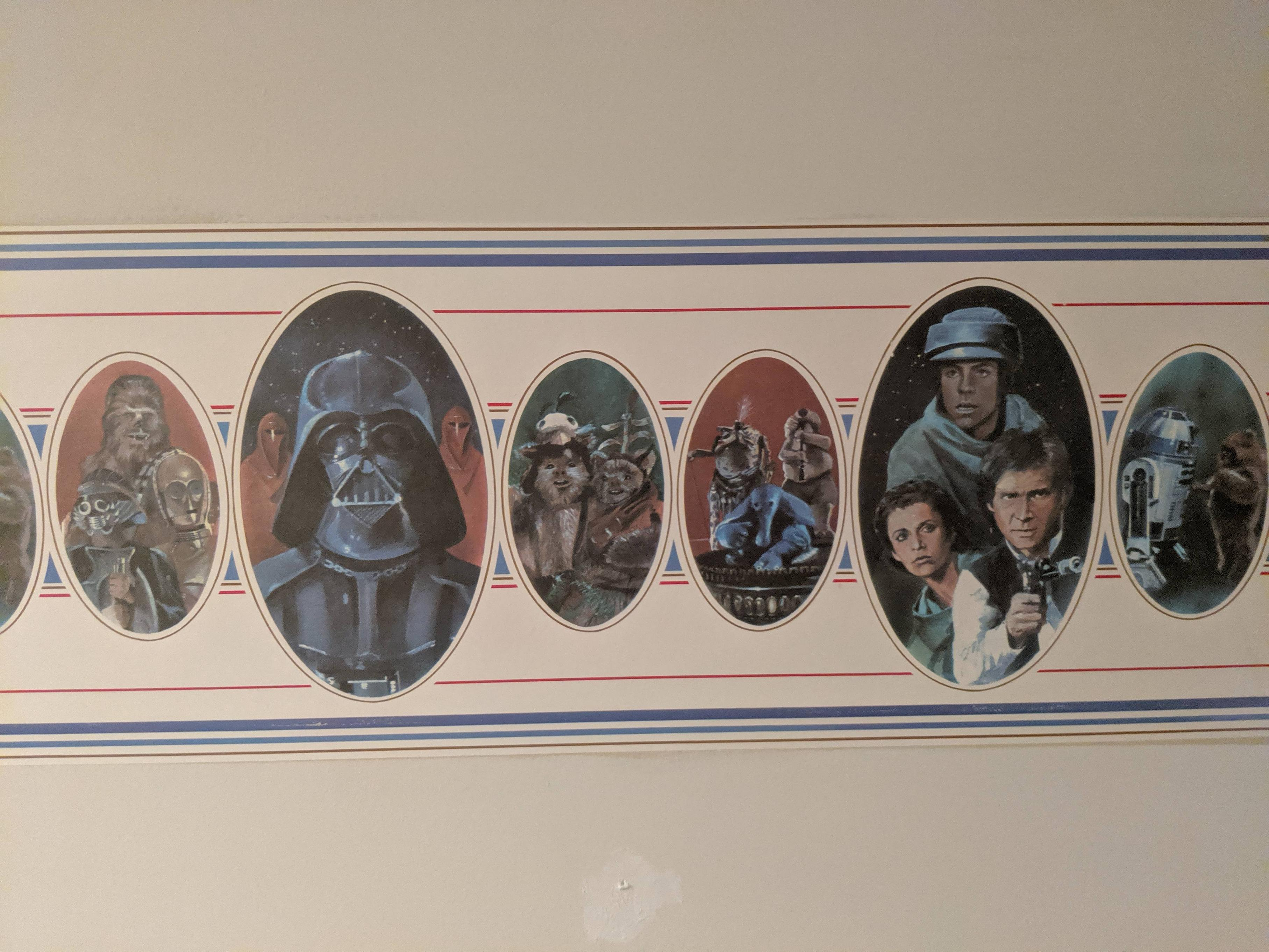 I love this wallpaper from the 80\'s at my grandparent\'s house.