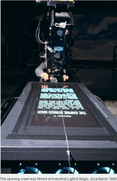 [behind the scenes]Filming the opening crawl for ESB