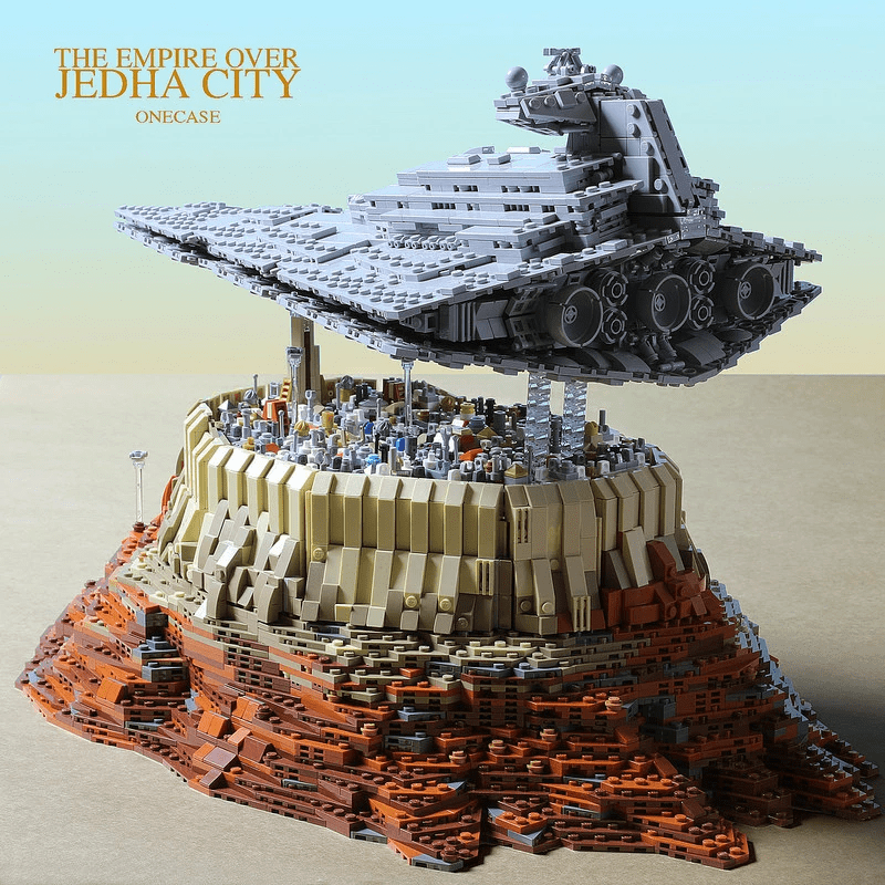 5098pcs MOC Star Wars on the city of The Empire over Jedha City