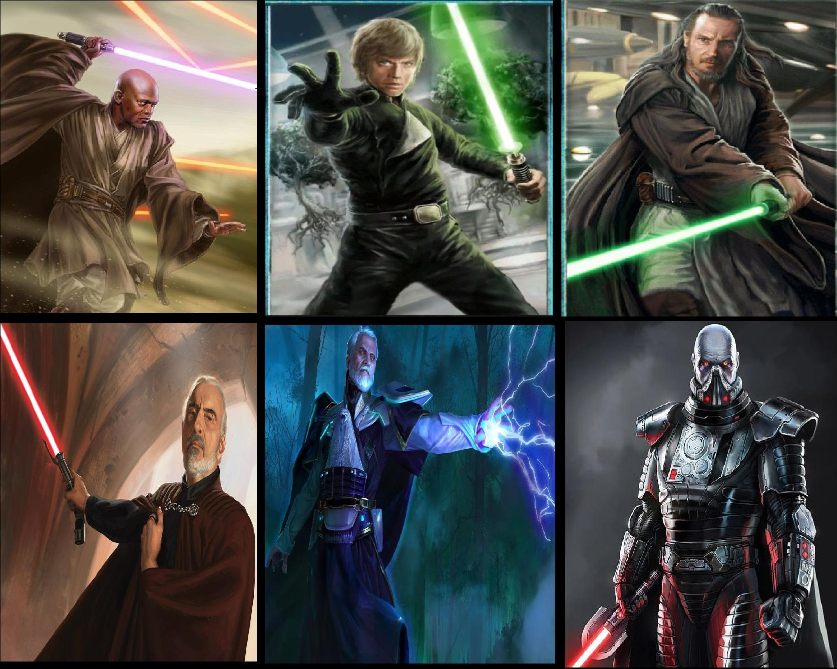Who are your top 3 favourite Jedi and Sith? Here are mine!