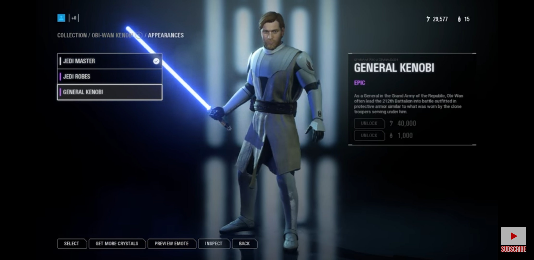 Battlefront 2 General Kenobi appearance