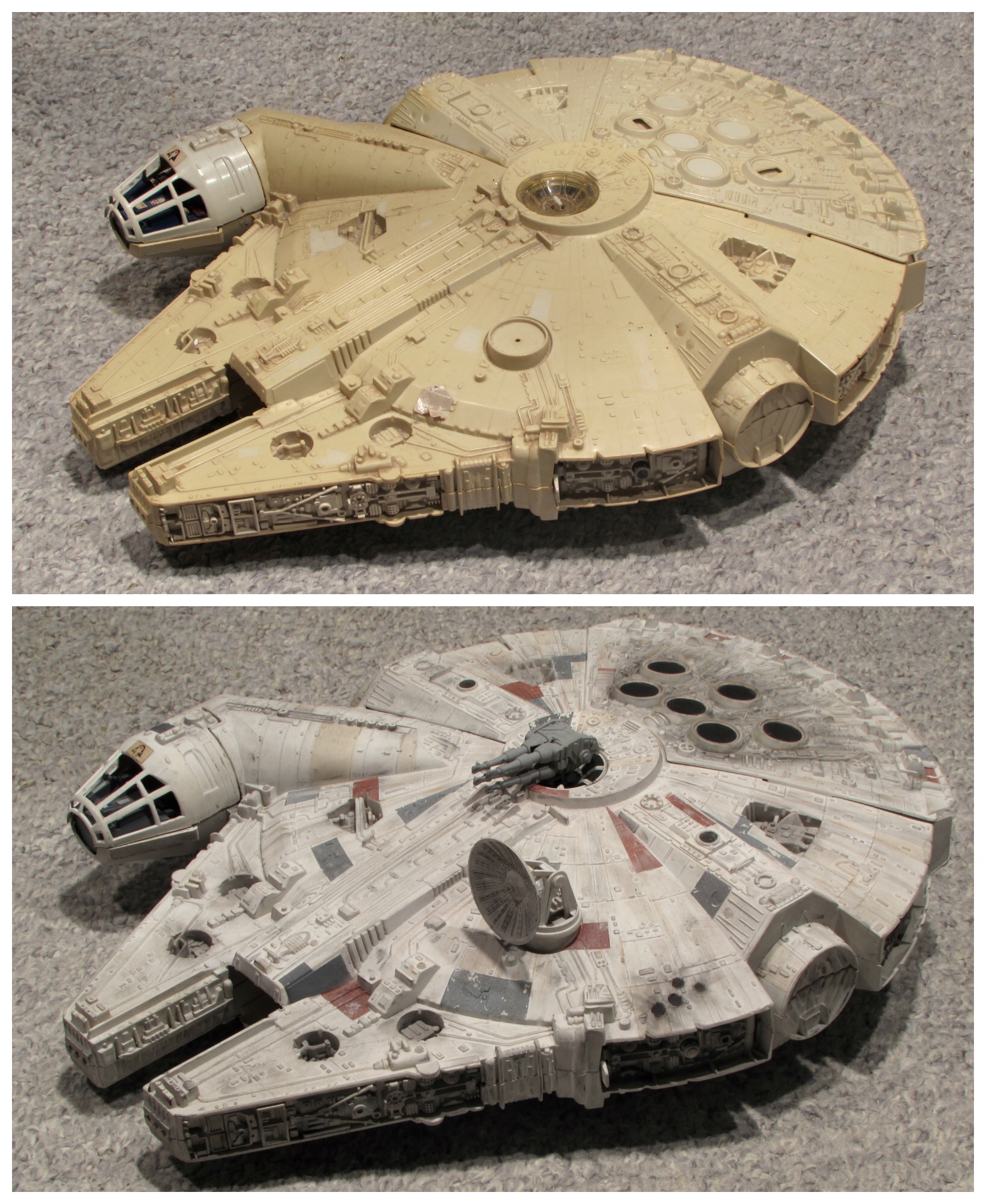 This guy dug up his old Millennium Falcon and completely restored it to hand down to his kid. Complete rock star.