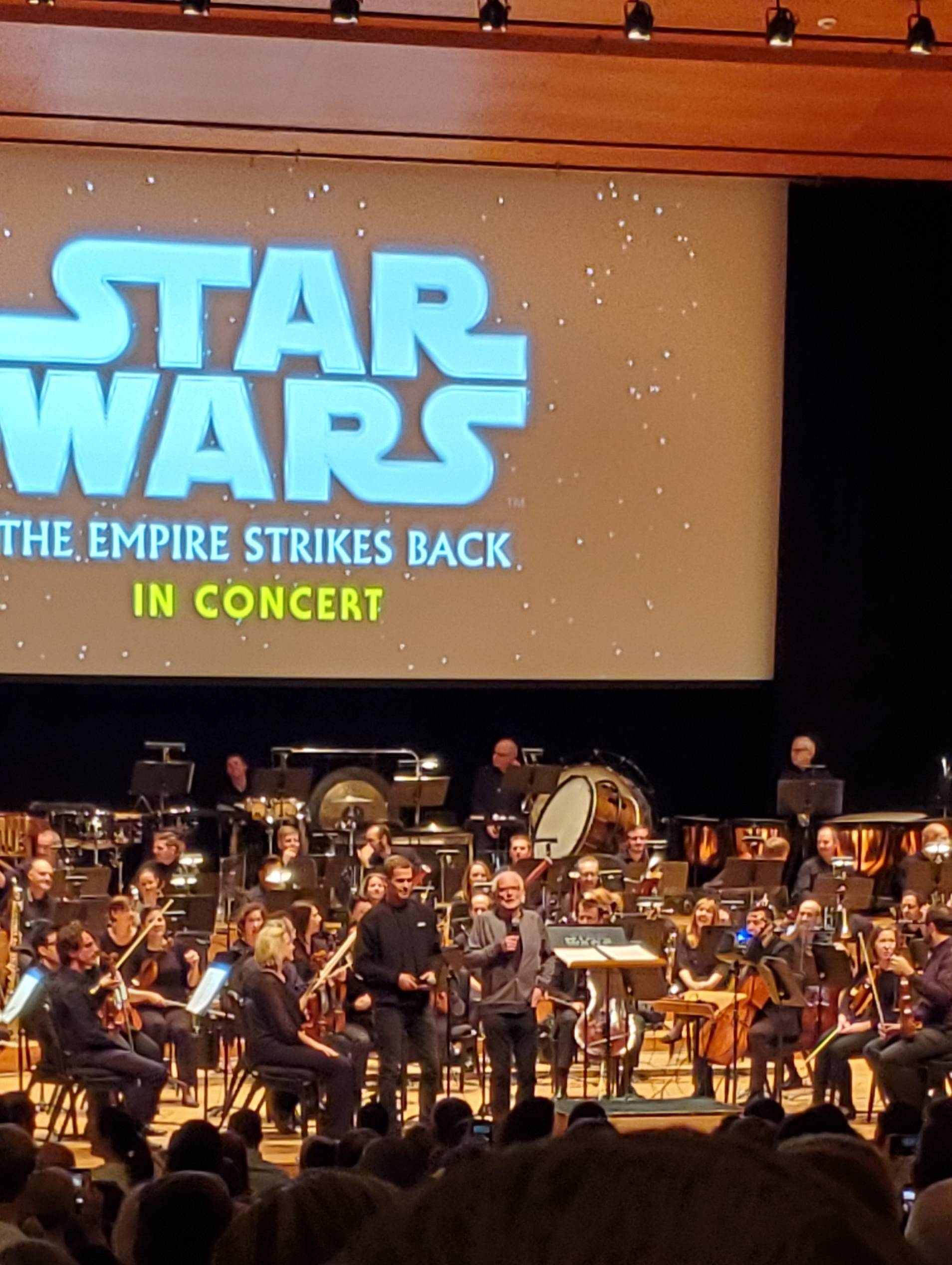 Ian McDiarmid and Hayden Christensen showed up to the Utah Symphony\'s Star Wars in concert