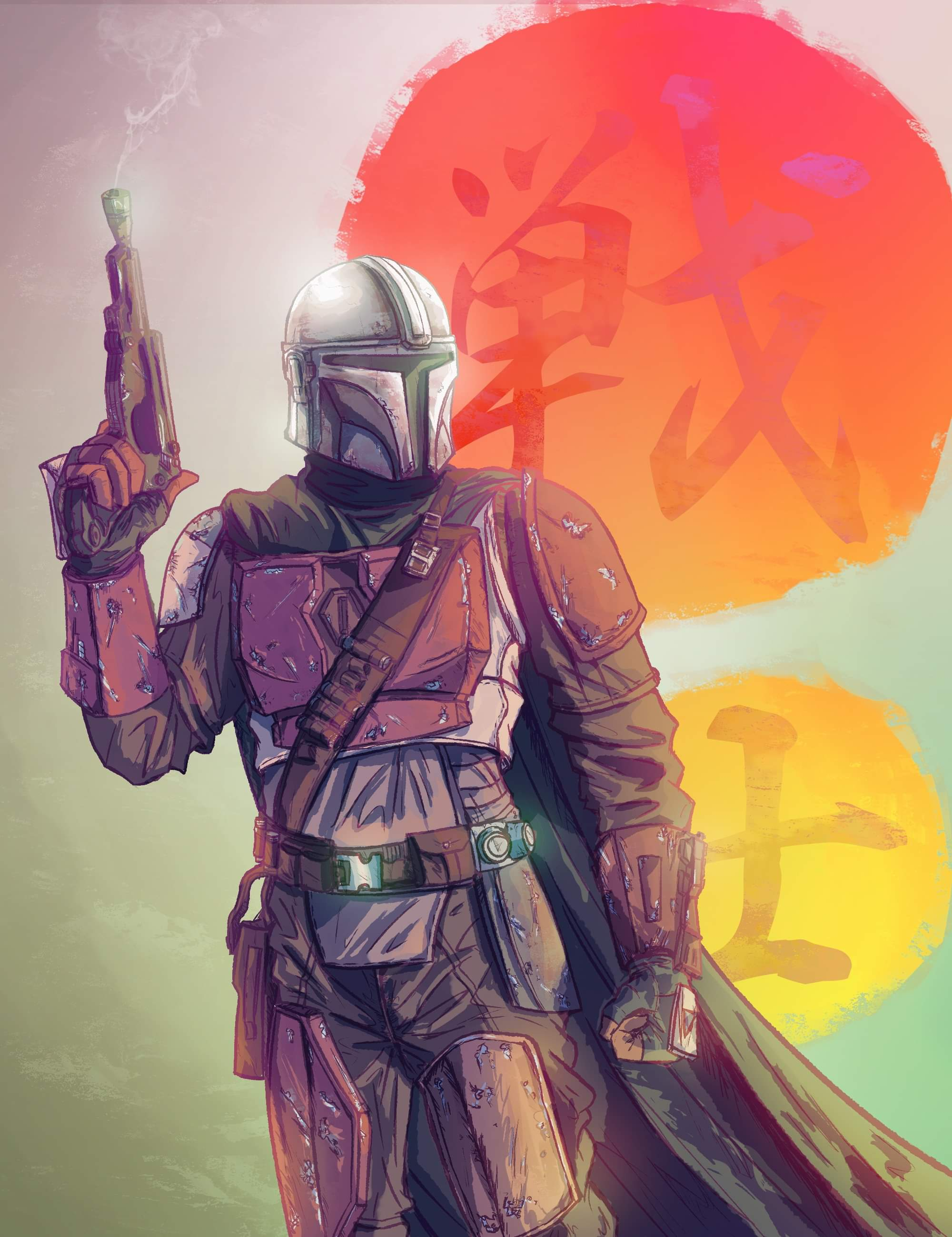 Finished my Mandalorian piece