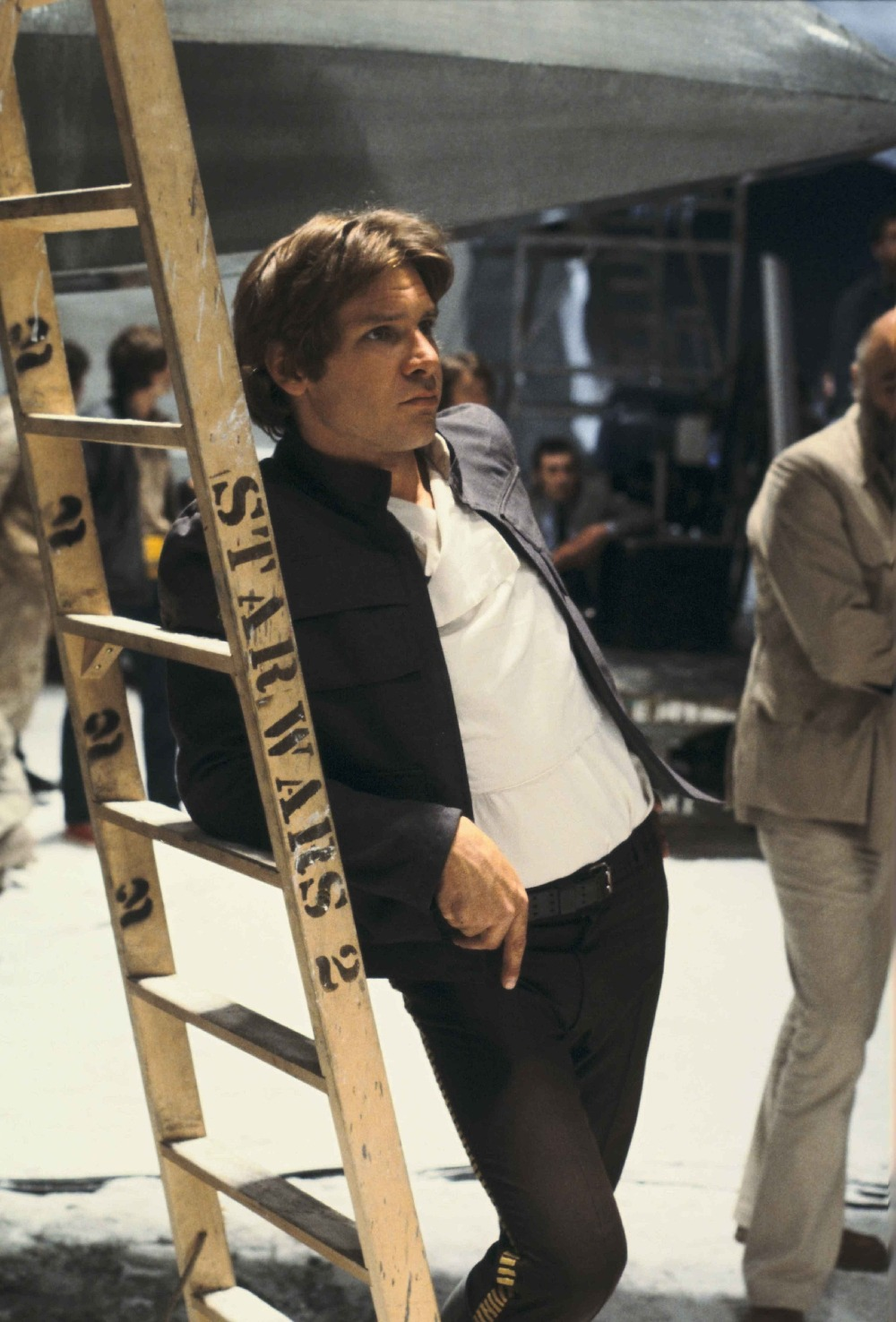 Harrison Ford on the Echo Base hangar set in