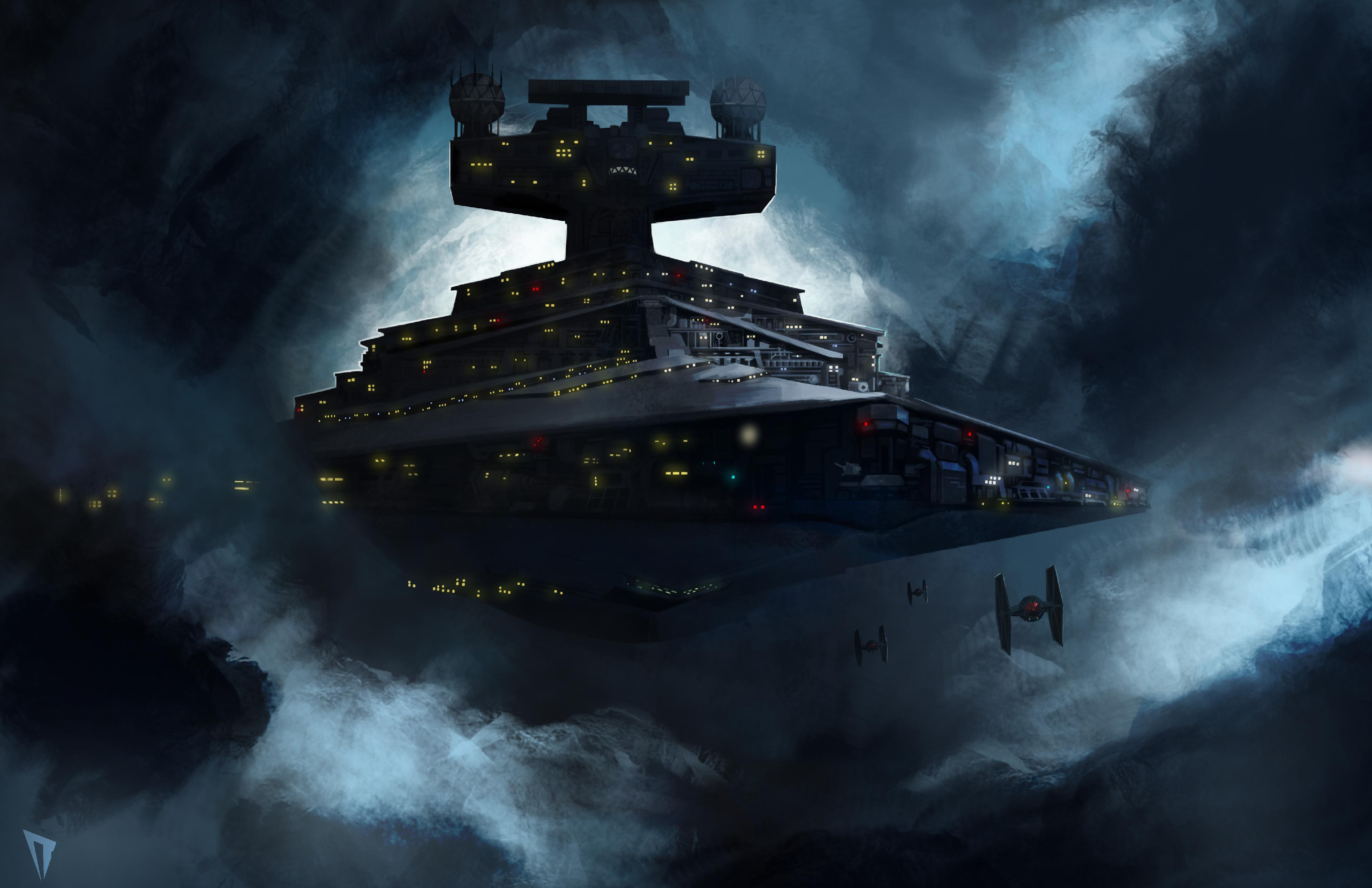 Painted a Star Destroyer for the 4th but wasn\'t able to finish it in time.