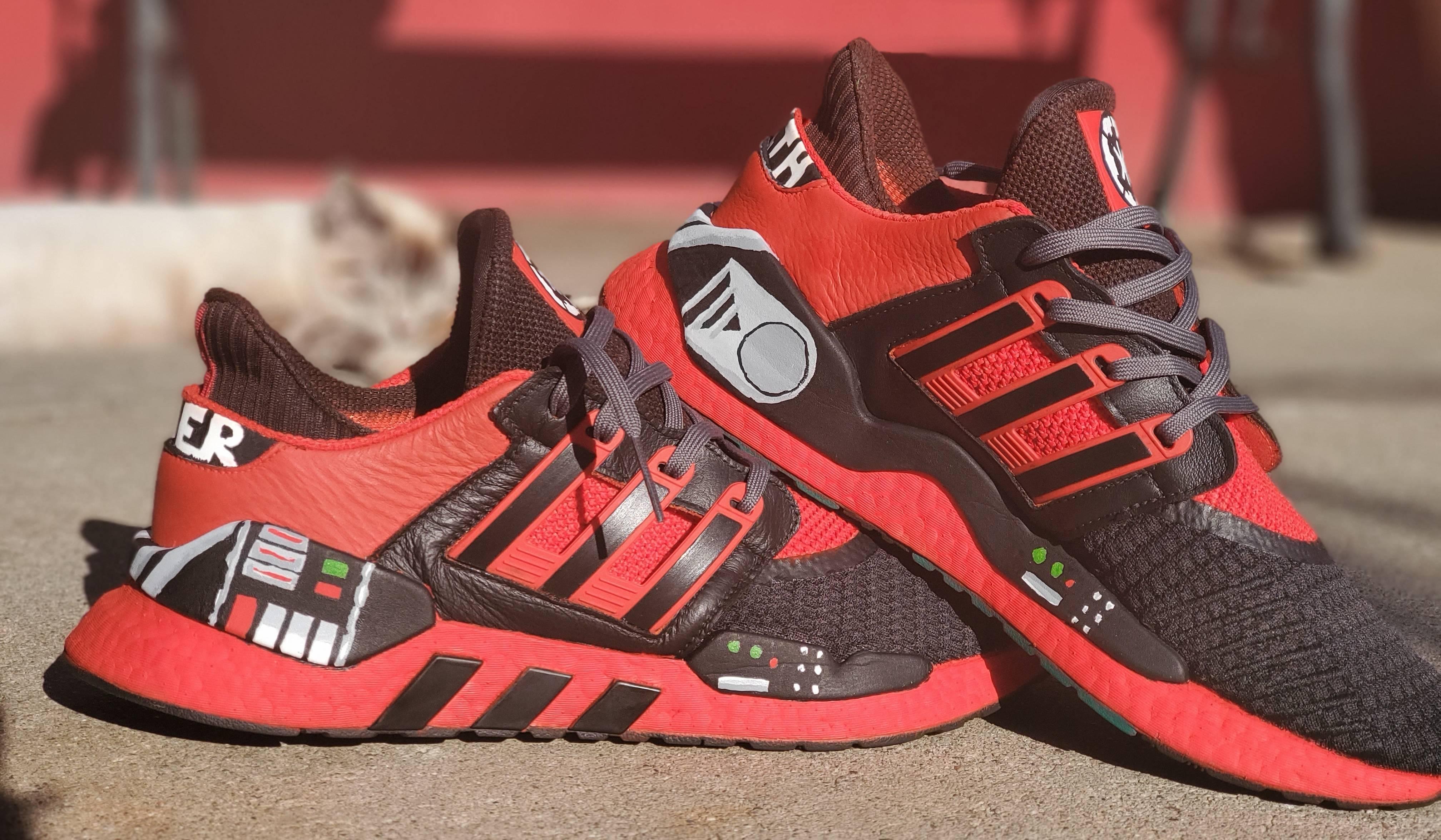 Darth Vader quarantined custom painted shoes