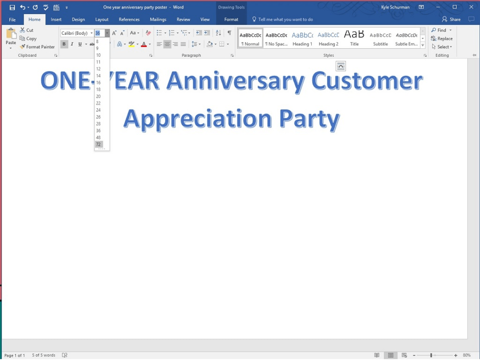how to make a poster in word