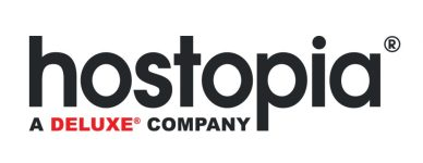 hostopia logo charcoal on white