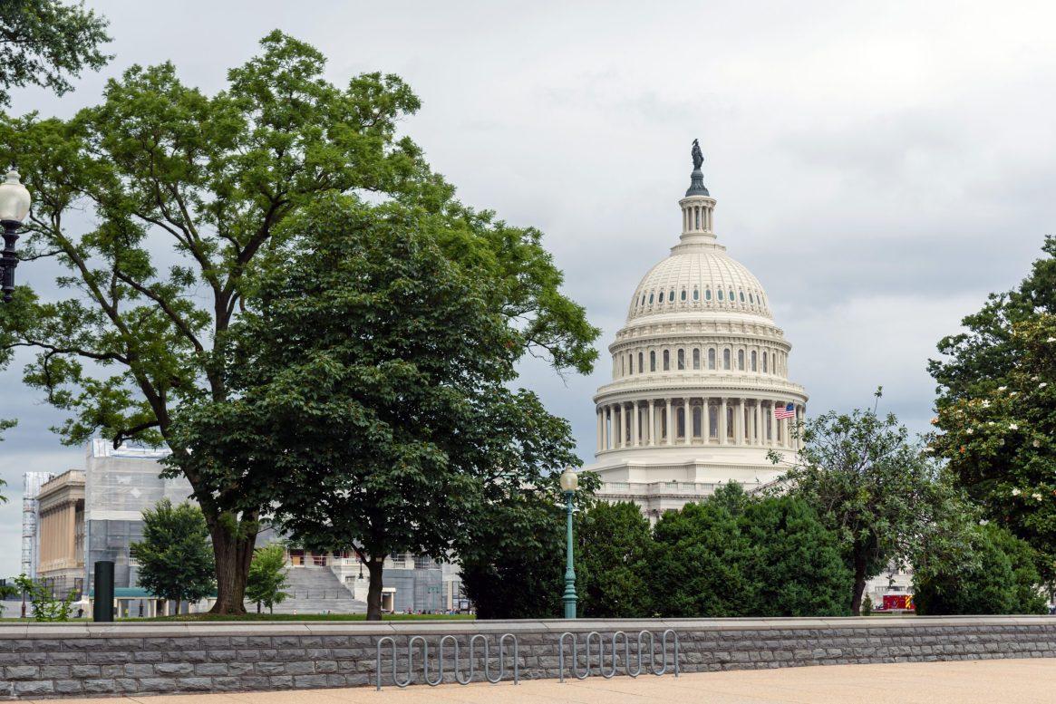 Washington DC, USA - June 9, 2019: US Capitol Building in Washin