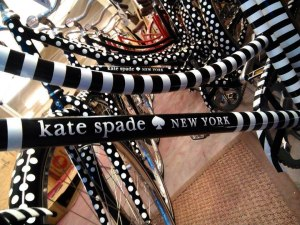 Bicycles wrapped for Kate Spade