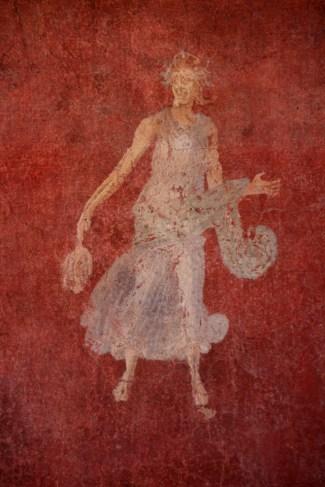 Casa delle Pareti Gialle (Ostia III,IX,12), stanza 8, Menade ballando