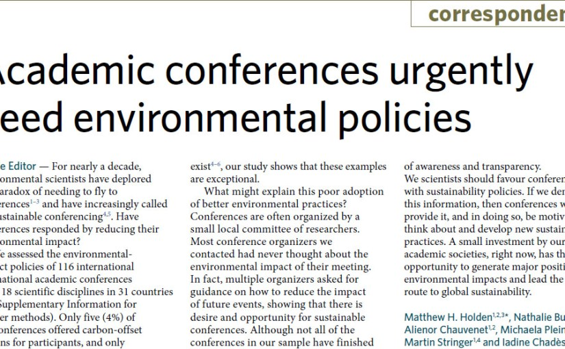 Academic conferences urgently need environmental policies
