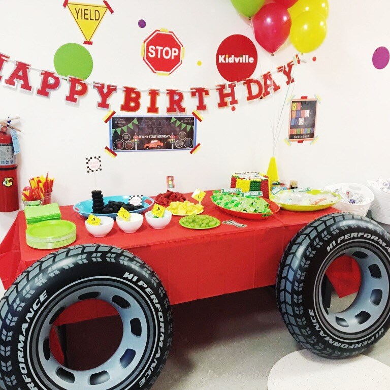 I Adore What I Love Blog // Brody's First Birthday Party - The Planning // Car Food Table // www.iadorewhatilove.com #iadorewhatilove
