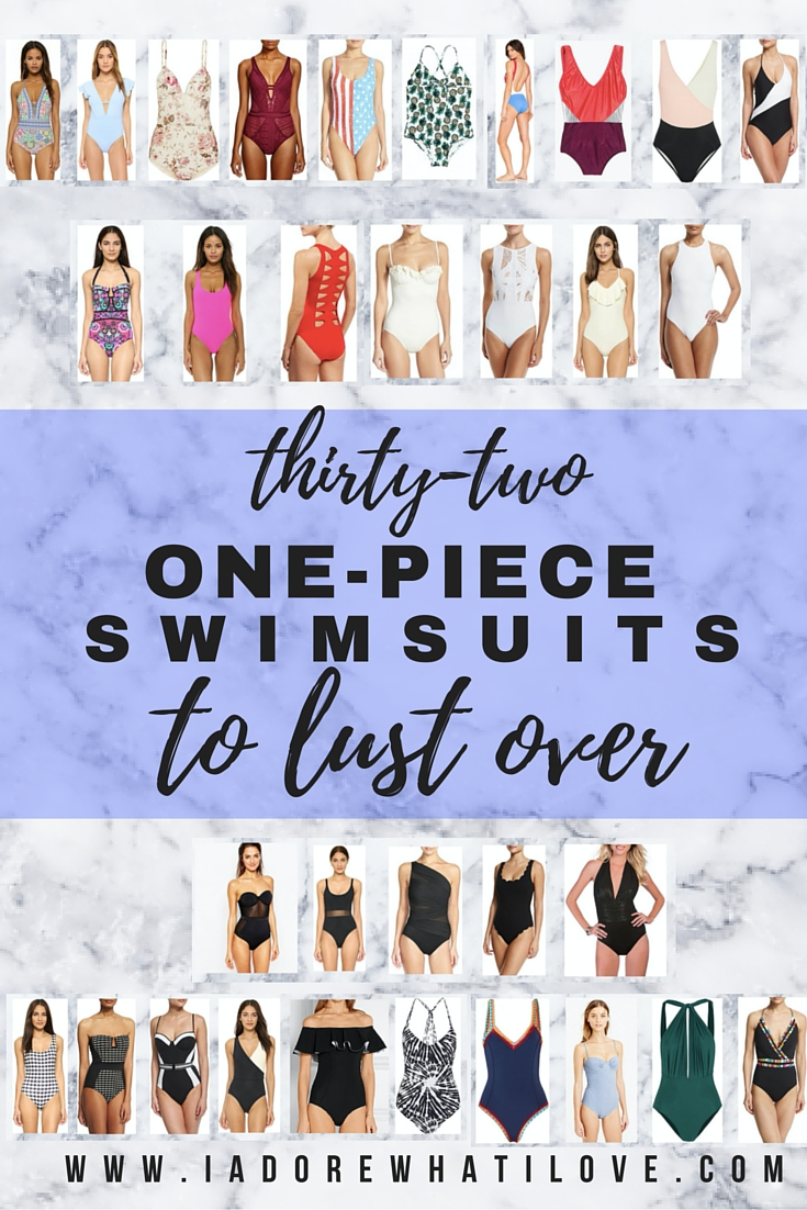 I Adore What I Love Blog // 31 ONE-PIECE SWIMSUITS TO LUST OVER // www.iadorewhatilove.com #iadorewhatilove
