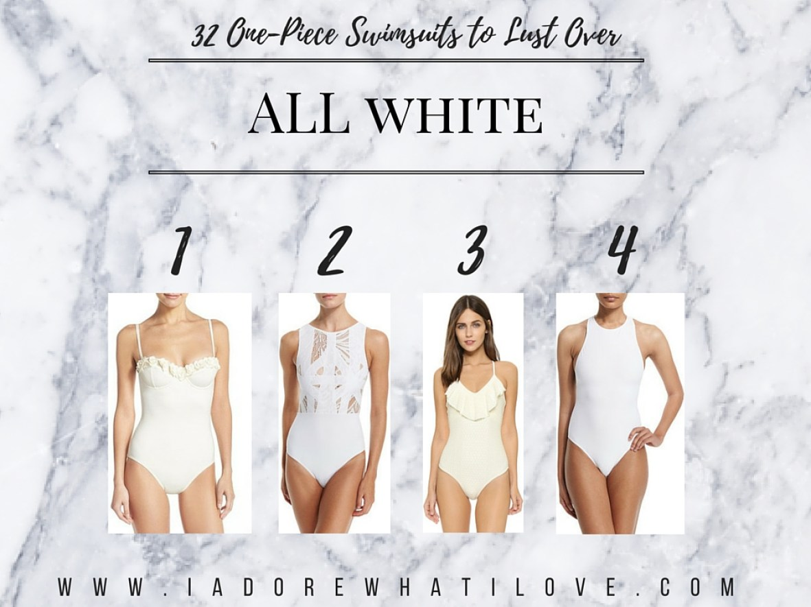 I Adore What I Love Blog // 31 ONE-PIECE SWIMSUITS TO LUST OVER // all white swimsuits // www.iadorewhatilove.com #iadorewhatilove