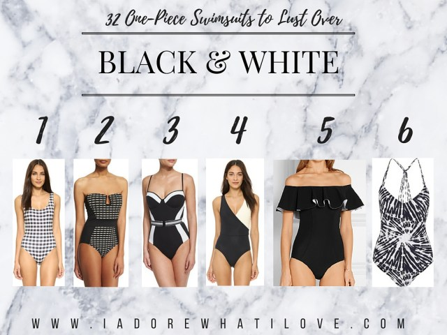 I Adore What I Love Blog // 31 ONE-PIECE SWIMSUITS TO LUST OVER // black and white swimsuits // www.iadorewhatilove.com #iadorewhatilove