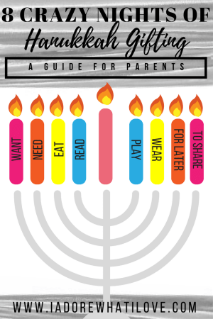8 Crazy Nights of Hanukkah Gifting: A Guide for Parents // I Adore What I Love Blog // www.iadorewhatilove.com #iadorewhatilove