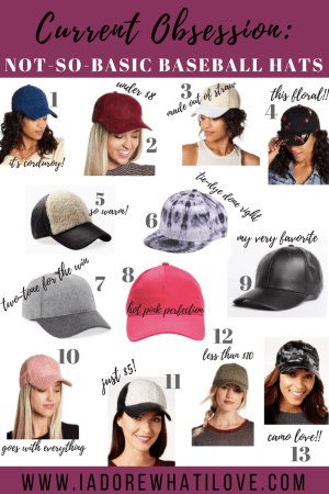 Current Obsession: Not-So-Basic Baseball Hats :: I Adore What I Love Blog :: www.iadorewhatilove.com #iadorewhatilove
