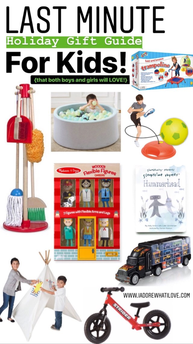 Last Minute Holiday Gift Guide For Kids :: I Adore What I Love Blog :: www.iadorewhatilove.com #iadorewhatilove