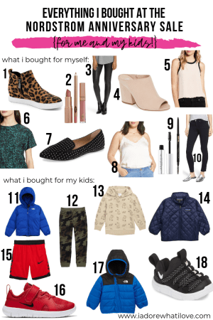 EVERYTHING I BOUGHT AT THE NORDSTROM ANNIVERSARY SALE :: I Adore What I Love Blog :: www.iadorewhatilove.com #iadorewhatilove