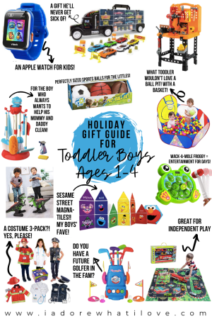 Need to buy a gift for the toddler boy in your life? I've found 12 perfect holiday gifts that will put a smile on his face for years to come!