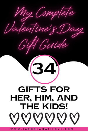 Time to shop for Valentine's Day! I have 34 perfectly curated gifts for HER, HIM, and the kids in your life! All in one place. Take a look!