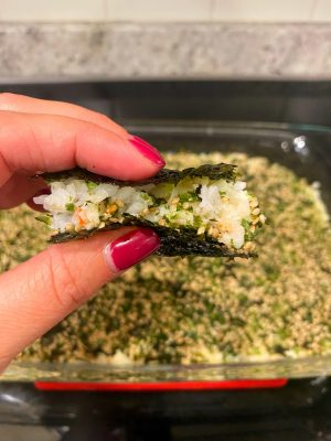 Sushi bake: it's what's for dinner. This easy recipe is not only seriously simple but crazy addicting because it's so delicious! YOU WILL LOVE
