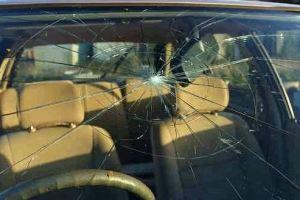 damaged windscreen