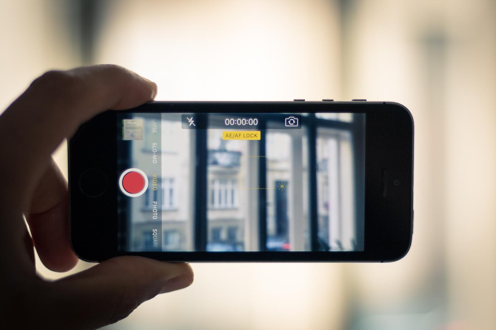 iPhone Kamera aktiv quer