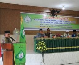 LPM IAIN Padangsidimpuan mengadakan Lokakarya Peningkatan Akreditasi