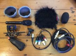 Ambeo VR & Rycote BBG, lyre mount & pistol grip