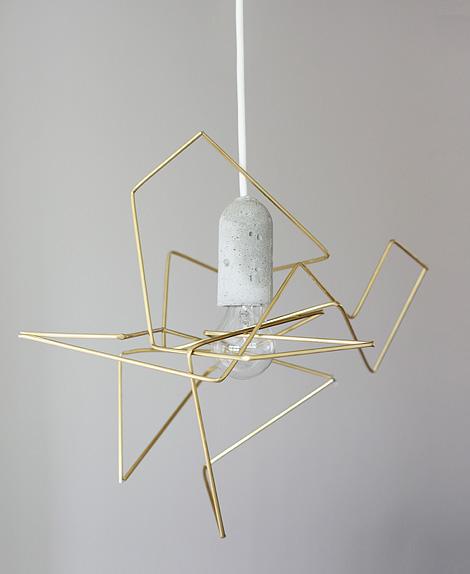 DIY geometric lamp