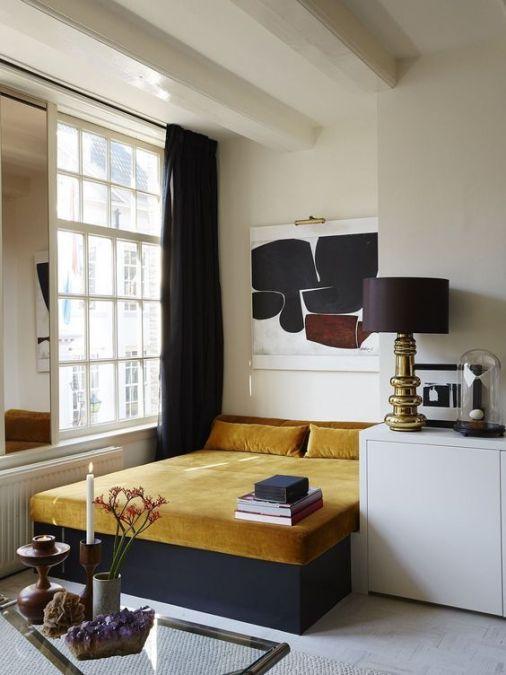 Black & Gold bedroom