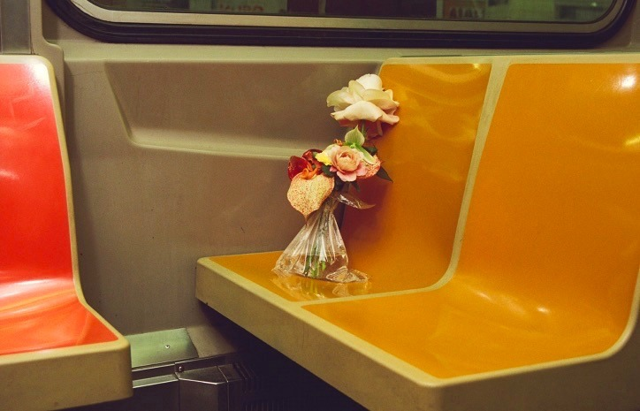 Flowers on the train