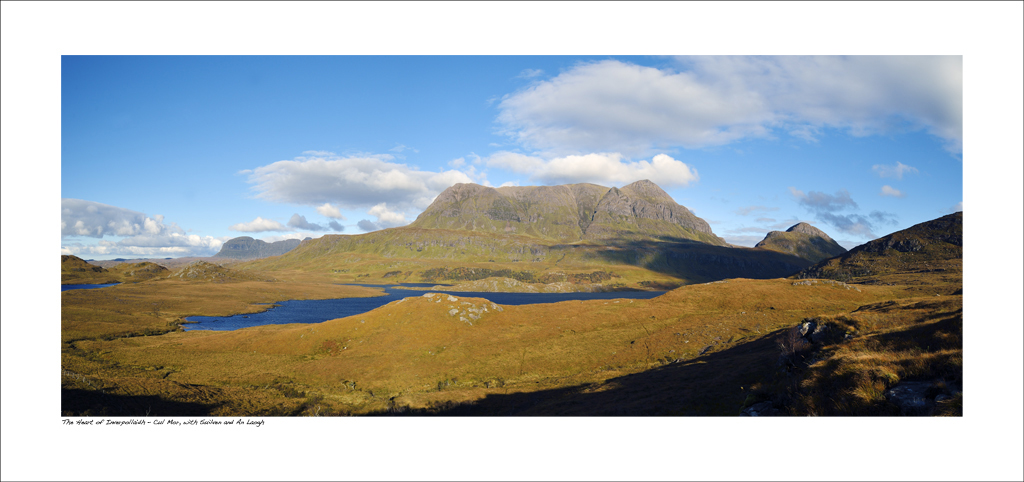 NWP_34_14. The heart of Inverpollaidh: Suilven, Cul Mor and An Laogh, north-west highlands of Scotland