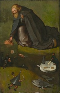 'The Temptation of St Anthony' one of the paintings formerly attributed to Bosch withdrawn from recent exhibition