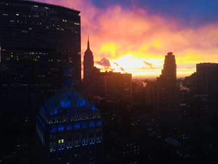 Enjoy NYC's sunsets
