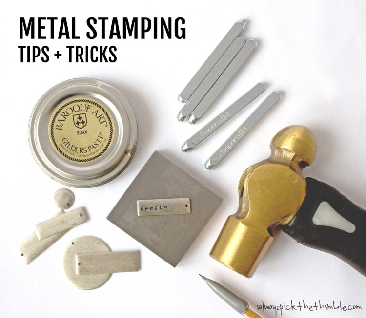 Metal Stamping Tips Tricks I Always Pick The Thimble
